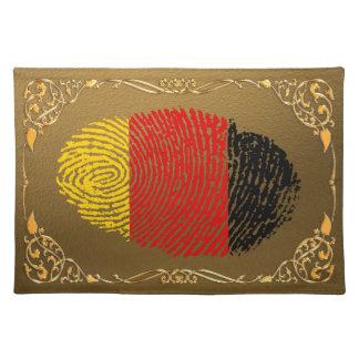 German touch fingerprint flag placemat