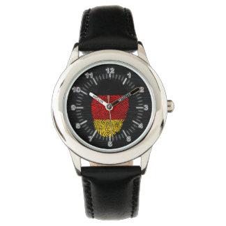 German touch fingerprint flag wristwatch