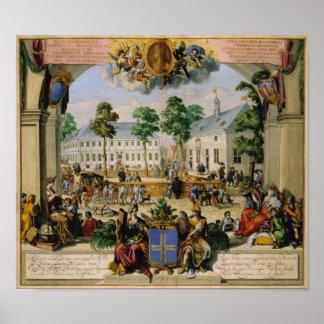 German town Lingen (1700) Poster