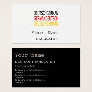 German Translator or Interpreter Business Cards