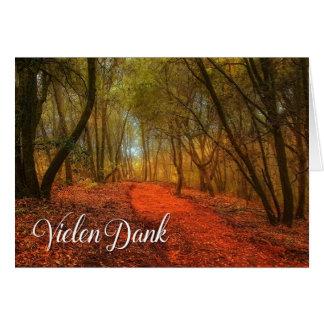German Vielen Dank Thank You Woodland Path Blank Card