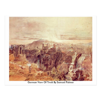 German View Of Tivoli By Samuel Palmer Postcard