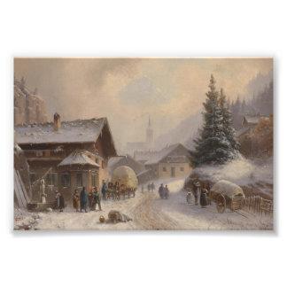 German Village in Winter Art Photo