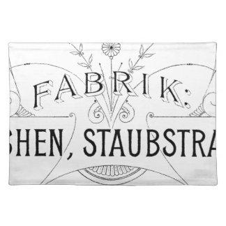 german vintage typography design placemat