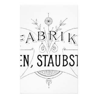 german vintage typography design stationery