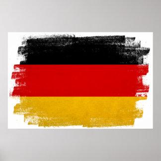 German wax pencil sketched flag poster