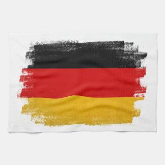 German wax pencil sketched flag tea towel