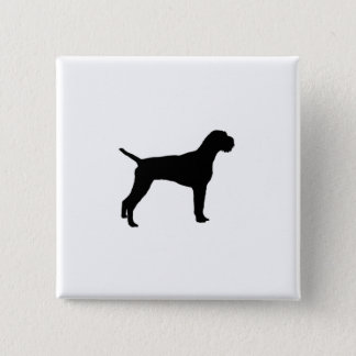 German Wire-Haired Pointer Silhouette Love Dogs 15 Cm Square Badge