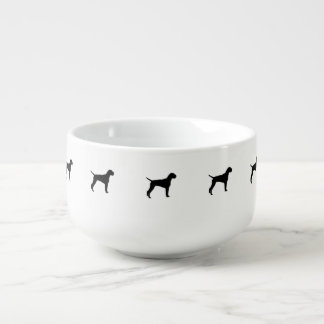 German Wire-Haired Pointer Silhouette Love Dogs Soup Mug