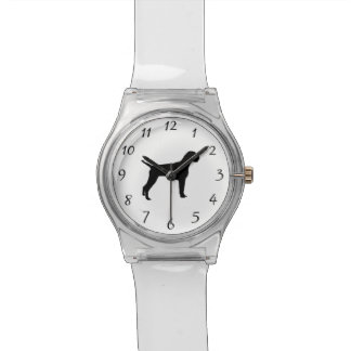 German Wire-Haired Pointer Silhouette Love Dogs Watch