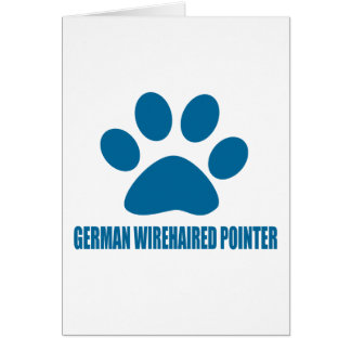 GERMAN WIREHAIRED POINTER DOG DESIGNS CARD