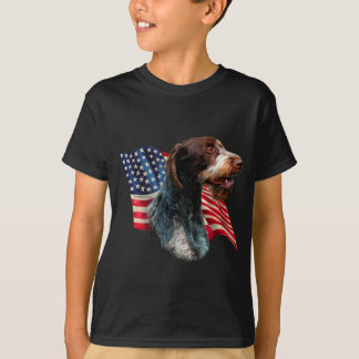 German Wirehaired Pointer Flag T-Shirt