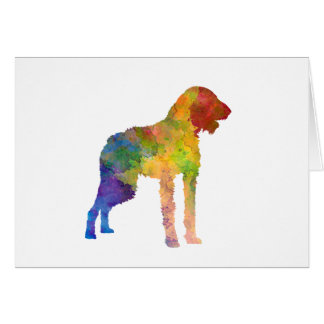 German Wirehaired Pointer in watercolor Card