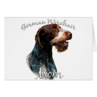 German Wirehaired Pointer Mom 2 Card