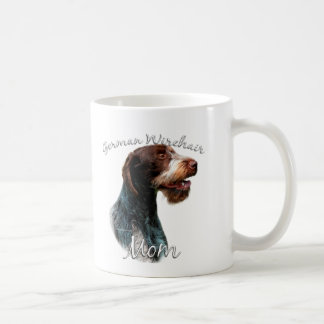 German Wirehaired Pointer Mom 2 Classic White Coffee Mug