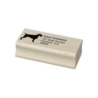 German Wirehaired Pointer Return Address Rubber Stamp