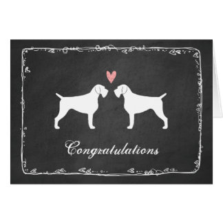 German Wirehaired Pointer Wedding Congratulations Card