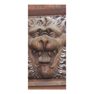 German WOOD CARVING - LION Medieval architecture Customized Rack Card