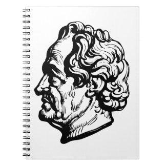 German writer Goethe Spiral Note Books