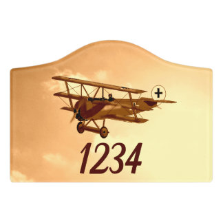 German WW1 Red Baron Aircraft Aviation Door Sign