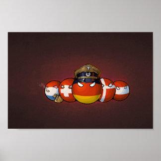 Germanic Countryballs Poster