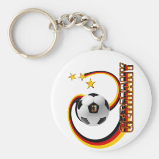 Germany alternate blended soccer logo key ring