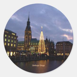 Germany: Amburgo Piazza, Germany Classic Round Sticker