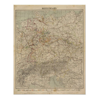 Germany Atlas Map Poster