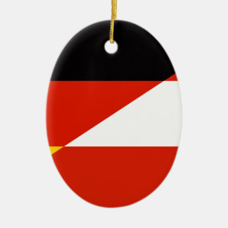 Germany-Austria Flag Ceramic Oval Decoration