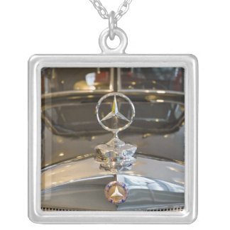 Germany, Baden-Wurttemberg, Stuttgart. Mercedes Square Pendant Necklace