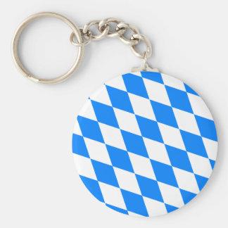 Germany Bavaria Flag Basic Round Button Key Ring