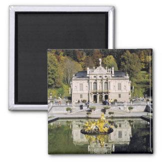 Germany, Bavaria, Linderhof Castle. Linderhof Square Magnet