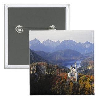 Germany, Bavaria, Neuschwanstein Castle. King 15 Cm Square Badge