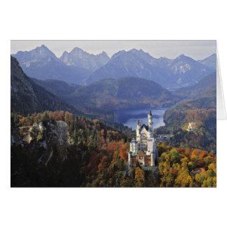 Germany, Bavaria, Neuschwanstein Castle. King Greeting Card