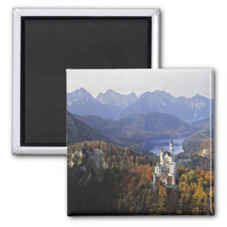 Germany, Bavaria, Neuschwanstein Castle. King Square Magnet