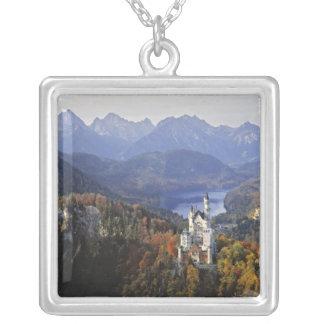 Germany, Bavaria, Neuschwanstein Castle. King Square Pendant Necklace