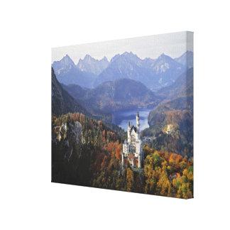 Germany, Bavaria, Neuschwanstein Castle. King Stretched Canvas Prints