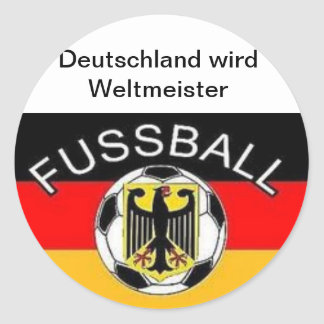 Germany becomes world champion round sticker