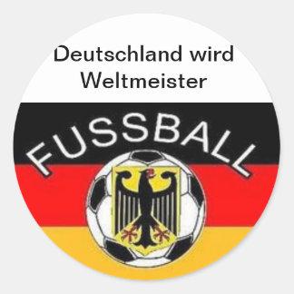 Germany becomes world champion round sticker