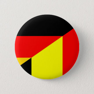 germany belgium half flag country symbol 6 cm round badge
