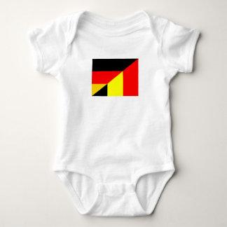germany belgium half flag country symbol baby bodysuit