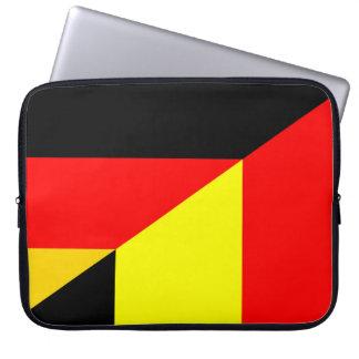 germany belgium half flag country symbol laptop sleeve