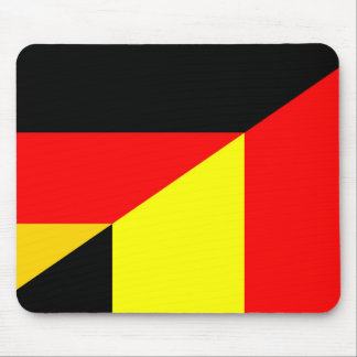 germany belgium half flag country symbol mouse pad