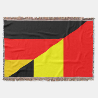 germany belgium half flag country symbol throw blanket