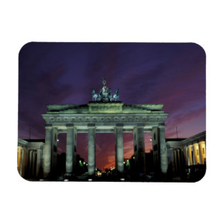 Germany, Berlin. Brandenburg Gate at night. Rectangular Photo Magnet