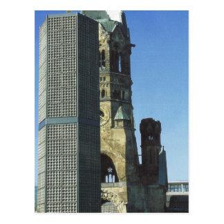 Germany, Berlin, Kurustendamm,  Wilhelm Kirche Postcard