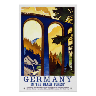Germany Black Forest Vintage Travel Poster