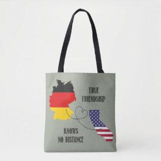 Germany California Friendship Silhouette Timo Tote Bag