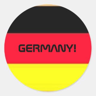 GERMANY! CLASSIC ROUND STICKER
