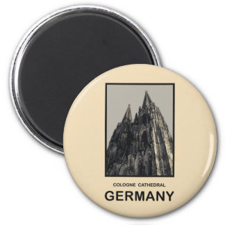 Germany Cologne Cathedral 6 Cm Round Magnet